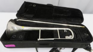Rath R3 trombone with case. Serial number: R3043.