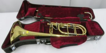 Edwards Instruments 1119CF trombone with case. Serial number: 0907037.