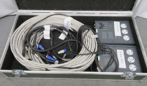 2x Alpha Pack 2 Zero 88 with power cables in flight case.