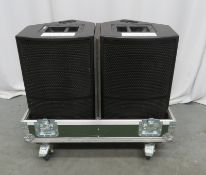 2x EM Acoustics M-12 monitor speakers. Serial numbers: MI12310511/001 & MI12310511/002.