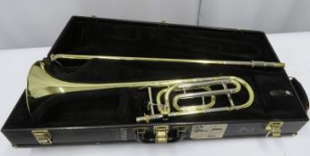 Bach Stradivarius model 42 trombone with case. Serial number: 15471.