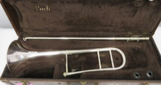 Bach Stradivarius model 36 trombone with case. Serial number: unknown.