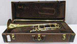 Bach Stradivarius model 50B bass trombone with case. Serial number: 63310.