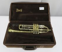 Bach Stradivarius model 37 ML trumpet with case. Serial number: 500793.