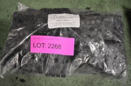 """Pack of 20 Pairs GCA 2P-DW2- 1/2"""" Two Piece Double Black Clamps."""