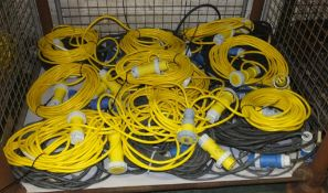 20x Various Lengths mixed voltages External Extension Cables