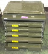 Tool Box Portable - multiple tray