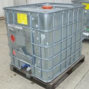 1x Schutz SX EX metal clad and frame IBC 1000LTR plastic container