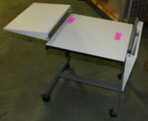 Fold up sided mobile table