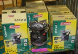 6x Coleman 442-700E unleaded feather stove - 1 burner