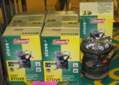 5x Coleman 442-700E unleaded feather stove - 1 burner