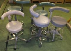 5x Swivel stools