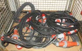 10x Extension Cable 32A 3 Phase