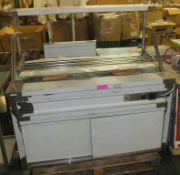 Catering S/S Heated Food Counter W1450 x D800 x H790+600mm.