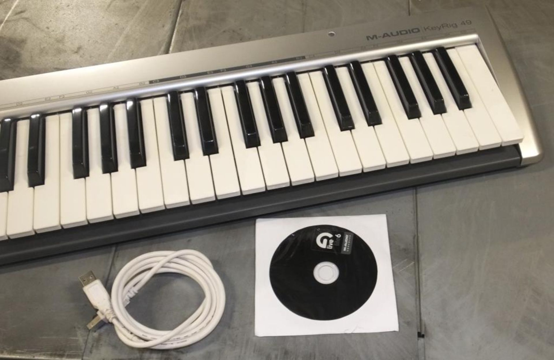 Lot 541 - M-Audio KeyRig 49 Synth-Action Keyboard USB