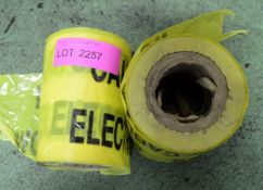 2x Rolls Electric Cable Warning Tape.