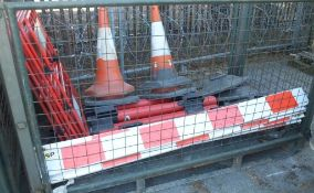 Various Road Safety Barriers And Cones