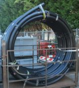 Drainage & Sewage MDPE Pipe 90mm x 50m Roll Black STILLAGE NOT INCLUDED