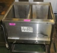 Double Deep Fat Fryer - Spares or repair.