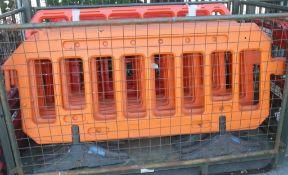 Plastic barrier assemblies