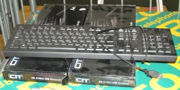 3x USB keyboards