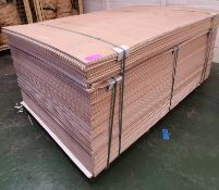 Approximately 160 Lionboard standard hardboard panels - LOCATED AT OUR CROFT SITE