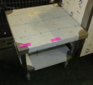 Stainless Steel Trolley W650 x D680 x H550mm.