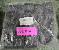 """Pack of 10 Pairs GCA 2P-DW7-1 1/4"""" Double Black Clamps."""