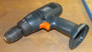 Black & Decker power srill - KC7251CN - 7.2V - no battery, no charger