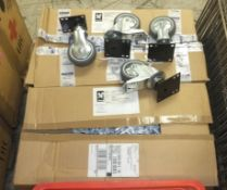 Tap assemblies, 3x Combi oven waste section assemblies, brackets, 2 boxes of heavy duty ca