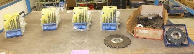 Assorted Milling Cutters, 20x 1-10mm HSS Drill Bit Sets