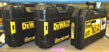 3x Dewalt power tool cases - empty