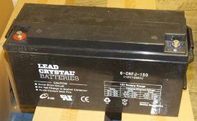 Betta Batteries Lead crystal battery 6-CNFT-150 - 12V 150Ah - 46kg (untested)
