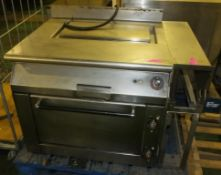 Electric Hotplate & Oven - Main body W900 x D800 x H770mm.Spares or repair.