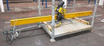 Overhead hoist system - GIS GCH 1000 NF M3.2 - 3.8M girder - LOCATED AT OUR CROFT SITE