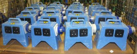 20x Scame 4 Way Transformer 16A 6h 200-250v