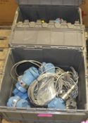 10x Rosemount R1151 smart pressure transmitters in 2 plasic transit boxes