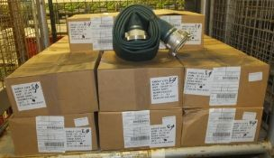20x Hose Layflat 75mm Nominal Bore 2.5m 75mm Storz Couplings