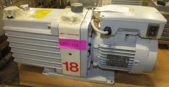 Edwards 2 stage 18 vacuum pump - E2M 18 PFPE