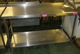 Stainless Steel Table W1500 x D700 x H930mm.