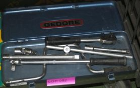 Socket set in carry box - incomplete