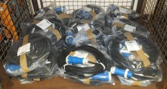 25x Lewden PM16 16amp 2P Electric Extension Cables