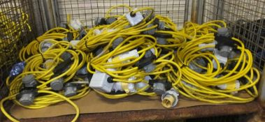 22x 110v Extension Lighting Cables With Switch