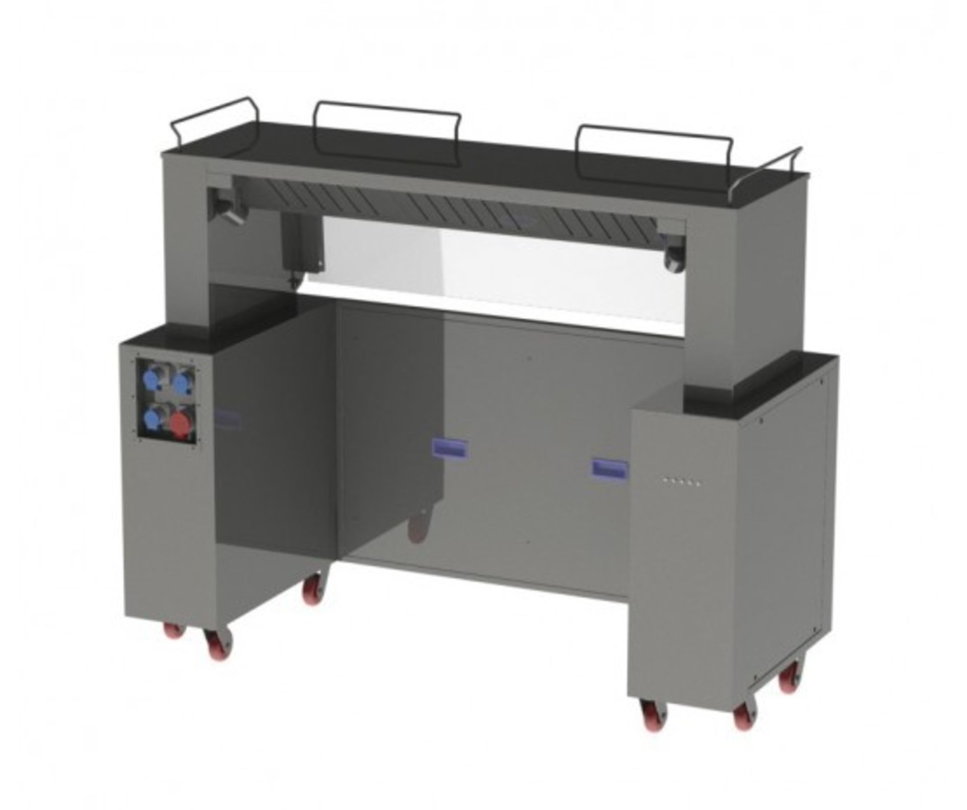 Lot 4 - Front cooking station RMBEFCS-03 with carbon filtration, ideal for show cooking, 3 phase electric, n