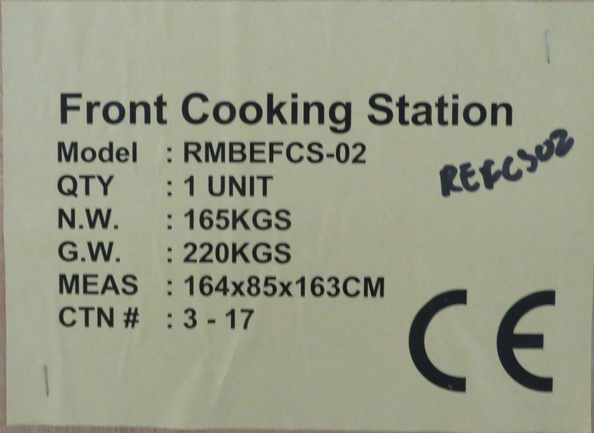 Lot 10 - Front cooking station RMBEFCS-02 with carbon filtration, ideal for show cooking, 3 phase electric, n