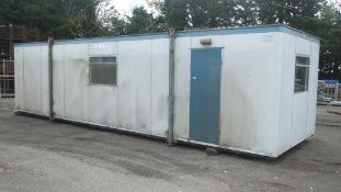Rollalong Cabin - 10M x 3M x 2.5M - 3 compartment - 1 door - LOCATED AT OUR CROFT SITE