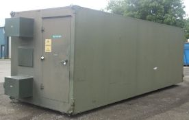 30ft Communication cabin - 19 inch racks, internal doors - LOCATED AT OUR SKEGNESS SITE