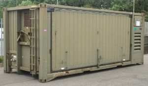 Containerised Transportable Laundry unit - made by G3 System Limited - LOCATED AT OUR CROFT SITE