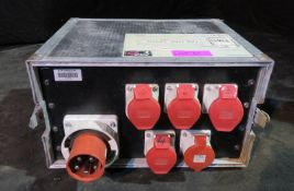 125A 3 phase racked power distribution - 5x 32A 3 phase outputs