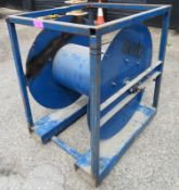 Large steel cable drum